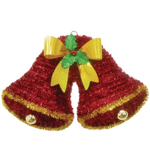 Youngcraft 20 In. Tinsel Double Bell Holiday Decoration